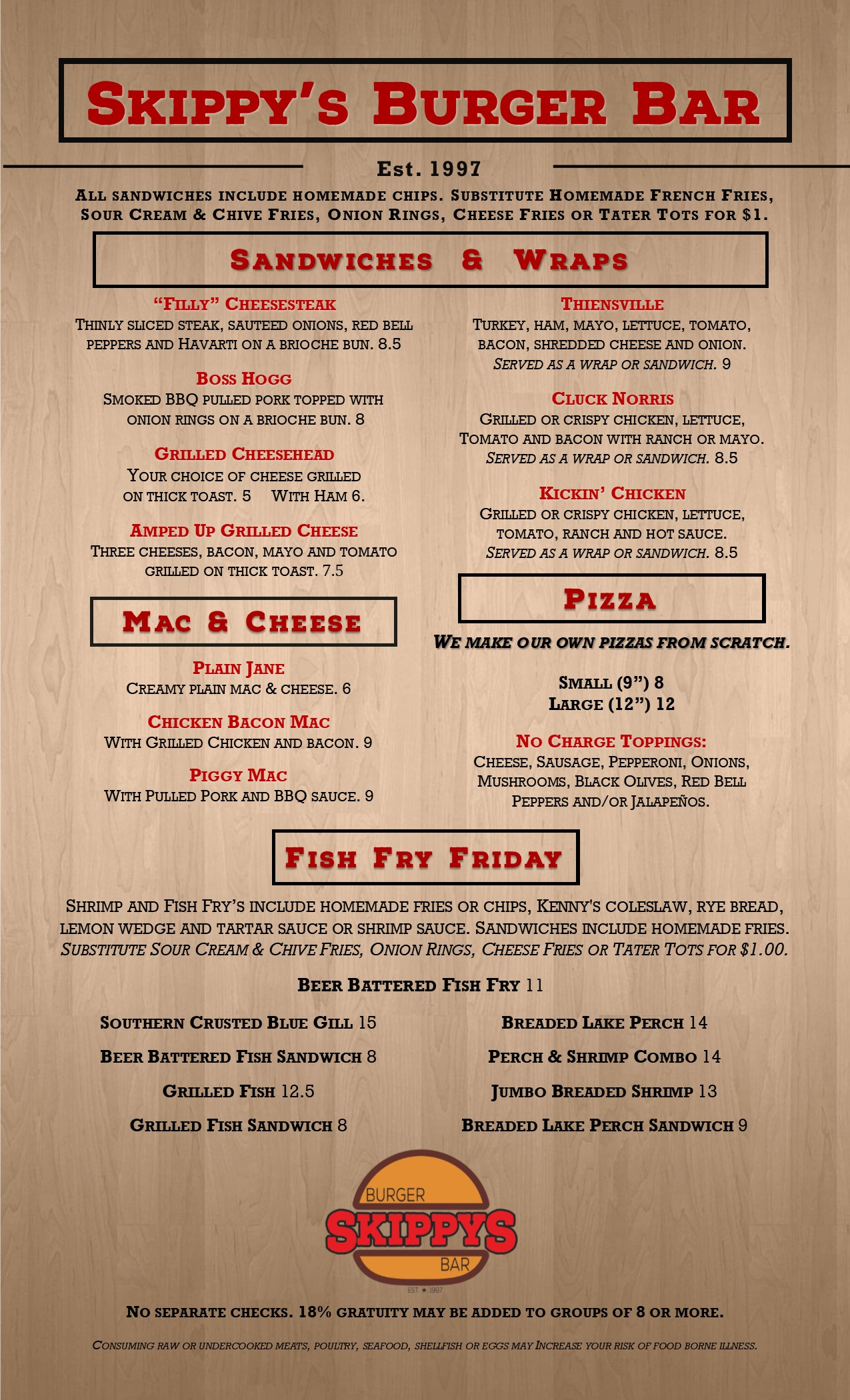 Skippys Menu 2019 - September (2)