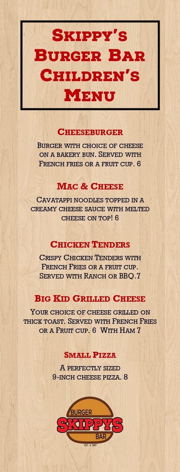 Skippys Menu 2020 - Kids_page-0001